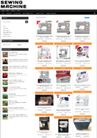 SEWING MACHINE UK WEBSITE BUSINESS WITH 1 YEARS HOSTING + NEW DOMAIN
