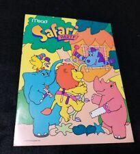 1989 Mead Folder Cartoon Safari Party Unpunched