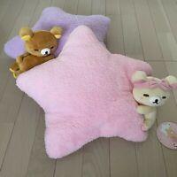 Rilakkuma & Korilakkuma Plush Star Shape Cushion Rilakkuma Pajama Party Set of 2