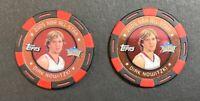 2005-06 Topps Poker Chip Dirk Nowitzki Red Black Foil 2 ct Lot /399 Mavericks