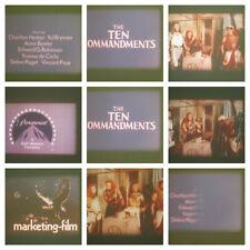 THE TEN COMMANDMENTS 1956 SUPER 8 COLOUR SOUND 3 X 400FT CINE 8MM FILM