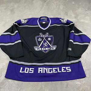 90s VTG LOS ANGELES KINGS CCM Alternate Jersey XXL Sewn Crown Purple Stitched
