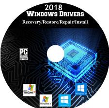 Windows PC Drivers Recovery/Restore/Repair/Install Win XP/Vista/7/8/10 CD 2018
