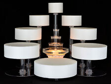 8 TIER CASCADE WEDDING CAKE STAND CUPCAKE STAND WITH FOUNTAIN (STYLE R801)