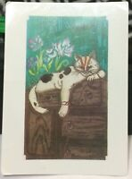Postcard Animal Cat by Sheila Horton - posted