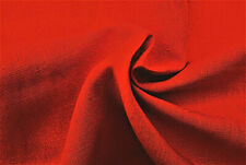 PURE LINEN VERMILLION RED UNIQUE EXCLUSIVE COLOUR TONE MADE IN MADE IN ITALY C4