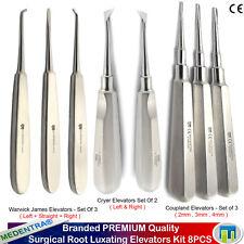 X8 Kit de chirurgie Oral Élévateur de Racines Warwick-James Coupland de Cryer CE