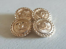 Set of 4 Chanel Vintage Stamped Buttons 20MM