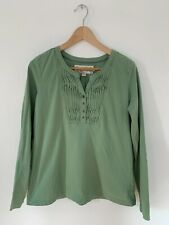 Aventura Sz.L Organic Cotton Conscious Clothing Ruffle Front Long Sleeve Top