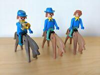 Vintage Playmobil Cavalry Men & Horses  Geobra  1974