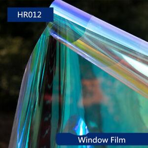 Rainbow Colorful Window Film Iridescent Window Tint film glass 54''x12''