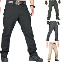 Men Tactical Waterproof Pants Hiking Climbing Work Pants Combat Pants Trouser