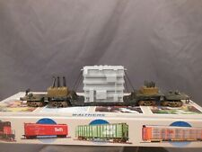 HO SCALE WALTHERS NORFOLK & WESTERN 75' DEPRESSED CENTER 4 TRUCK FLAT CAR W/LOAD