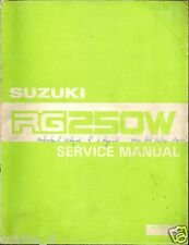 SUZUKI RG250W SERVICE MANUAL SECOND EDITION 1984 ORI