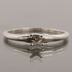 925 STERLING SILVER 4MM ROUND SEMI-MOUNT MEN'S WOMEN'S RING SETTING ALL SIZES