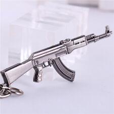 "2.5"" Mini AK47 GUN CF Assault RiflesMetal Keychain Keyring Pendant Gift"