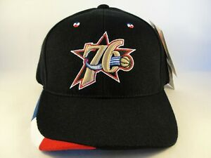 Philadelphia 76ers NBA Vintage Adjustable Strap Hat Cap American Needle Black