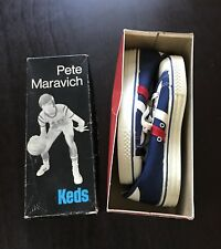 Vintage 1970s Pistol Pete Maravich Keds Basketball Shoes Original Box Brand NEW