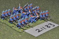 15mm 19th century / russoturkish - turkish infantry 27 figs - inf (21183)