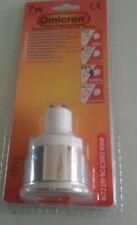 4 x Omicron GU10 7Watt 7W Energy Saving Bulb Compact Fluorescent Light Spotlight