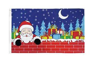 CHRISTMAS EVE SANTA Flag 3x5 Polyester