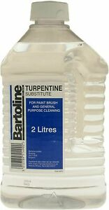 Bartoline Turpentine Substitute White Spirit Paint Brush Spills Cleaning Turps