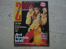 JIMI HENDRIX Zounds cover magazine MARC BOLAN T REX Red Hot Chili Peppers
