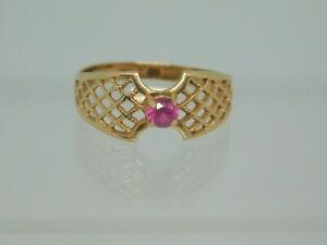 14ct Rose Gold Single Stone Ruby Ring