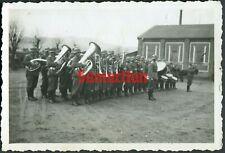 E3/5 WW2 ORIGINAL PHOTO OF GERMAN WEHRMACHT INFANTRY BANDSMEN