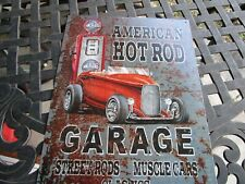 tin metal dealership home garage repair shop gas & oil man cave decor american