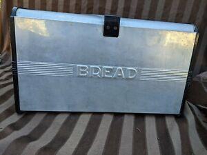 Kromex Mid Century Aluminum Bread Box, With Cutting Board Lid