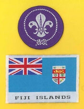 FIJI ISLAND SCOUTS - Boy & Girl Scout Membership Award & National Flag Patch SET