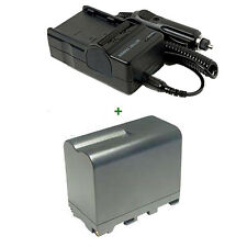 CHARGER + BATTERY For SONY NP-F960 NP-F970 NPF970 HDR-FX1E HDV 1080 iInfolithium