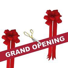 "10 1/2"" Ceremonial Ribbon Cutting Scissors Red Grand Opening Kit"