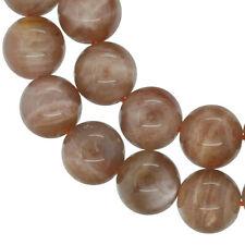 """15.6"""" Sunstone Round Beads 8mm #74179"""