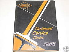 66 National Service Data Shop Service Tune-Up Manual USED 1966