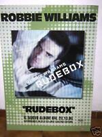 ROBIN WILLIAMS - CARTONATO PUBBLICITARIO RIGIDO - RUDEBOX CM 98 X CM 60