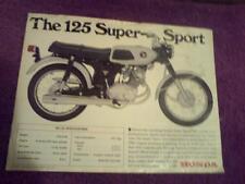 1967 Honda 125 Super Sport 125cc  motorcycle sales brochure, (Reprint) $6.50