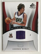 2006/07 Andrew Bogut Upper Deck SP Game Used JERSEY patch JSY Authentique tissus