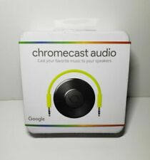 Chromecast Audio, Wifi media player - New -(Box has little scratch see pictures)