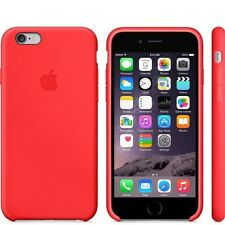 Genuine Silicone Case for Apple iPhone 6 / 6s in Red