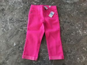NWT Justice Girls Pink Capri Jeans Pants Size 5