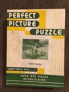 """Vintage Perfect Picture Puzzle No.49 """"A Faithful Guardian"""" J Adams #A44"""