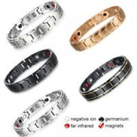 Therapeutic Energy Healing Bracelet Unisex Stainless Steel Magnetic Bracelet Hot