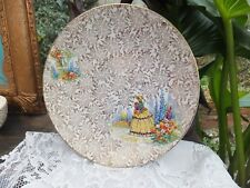 Vintage Empire Crinolene Lady Cake Plate Gold Chinz 1052  Cup Cake Time