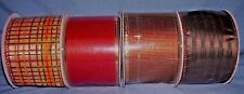 """lot of 4 bolts 2 1/2"""" wire edged ribbon fall colors"""