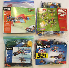 K'Nex Super Value 521, 250 Piece & K-Force, Turbo Jet 2 In 1 12575 Knex