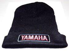YAMAHA V Star Patch BLACK Beanie Knit Cap Hat Motorcycle BIKER MC New BEA-0006