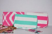 Wristlets Lot of 3 Hot Pink Mint Clutch Purse Wallet Cards Girl's Women's NWT