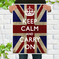 KEEP CALM AND SMOKE CIGARS Vintage Style CARRY ON Art Print Poster
